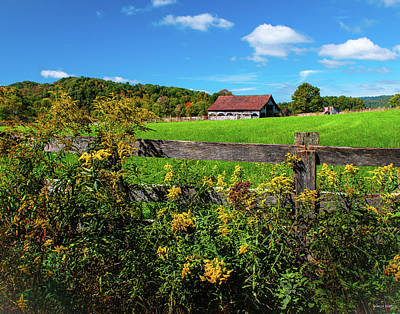 Photograph - Fall Farm by Rebecca Hiatt