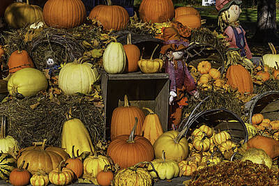 Fall Farm Stand Art Print by Garry Gay