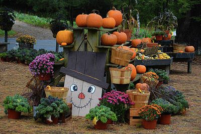 Photograph - Fall Farmstand by Mike Martin