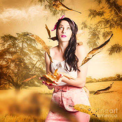 Fall Fashion Pinup Art Print by Jorgo Photography - Wall Art Gallery