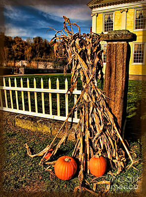 Photograph - Fall Fence At Hale Farm by Joan  Minchak