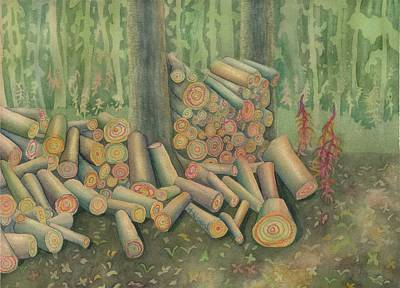 Fall Firewood Art Print by Anne Havard