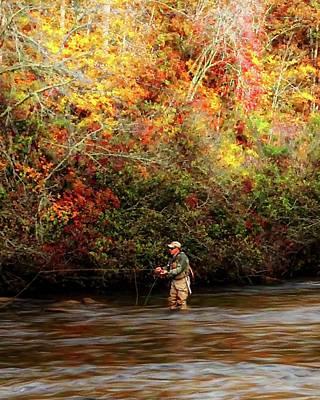 Photograph - Fall Fishing On The Tuck by Joe Duket