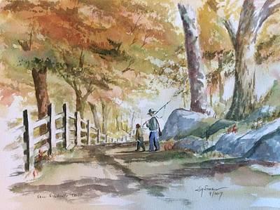 Painting - Fall Fishing Trip by Jim Stovall