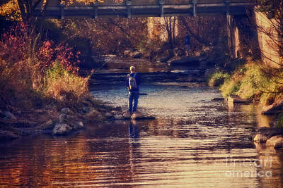 Coho Photograph - Fall Fishing - Version 2 by Mary Machare