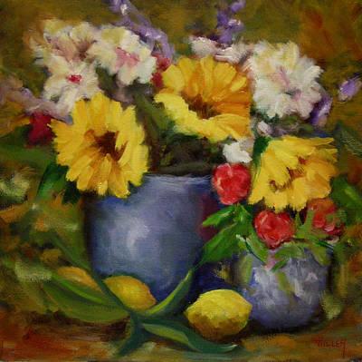 Fall Flower Still-life Art Print by Linda Hiller