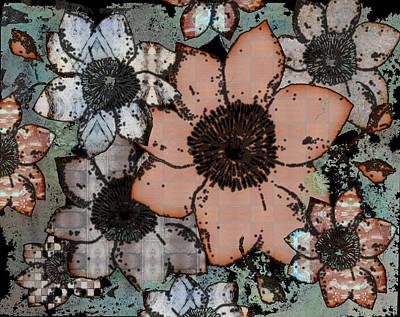 Floral Digital Art Digital Art - Fall Flowers by Arline Wagner