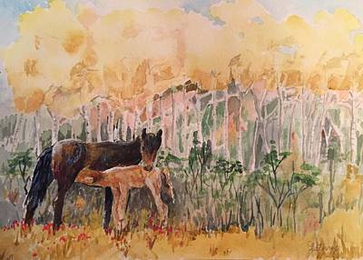 Painting - Fall Foal by Christine Lathrop