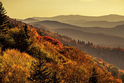 Photograph - Fall Foliage In The Smoky Mountains by Teri Virbickis