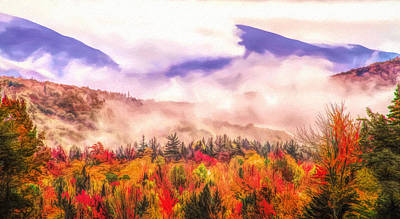 Painting - Fall Foliage Along The Kancamagus Highway by Dan Sproul