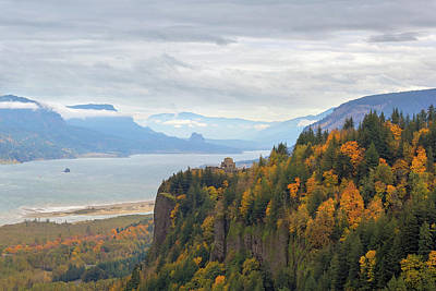 Photograph - Fall Foliage At Crown Point Columbia River Gorge by David Gn