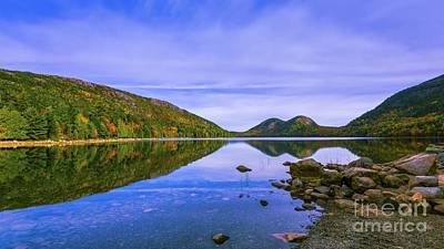 Photograph - Fall Foliage At Jordan Pond. by New England Photography