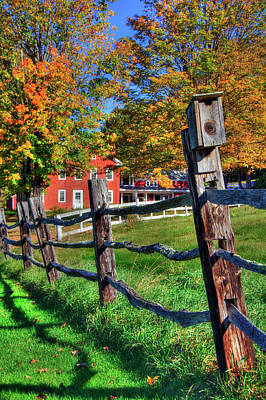 Photograph - Fall Foliage Country Scene - New England by Joann Vitali