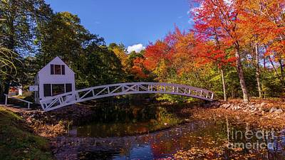 Photograph - Fall Foliage In Somesville, Maine. by New England Photography