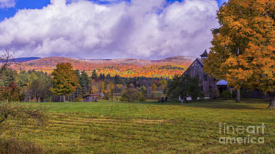 Photograph - Fall Foliage In The Mad River Valley. by New England Photography