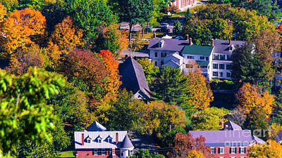 Photograph - Fall Foliage In Woodstock Vermont. by New England Photography