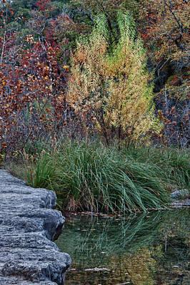 Fall Foliage Reflections At Lost Maples Art Print