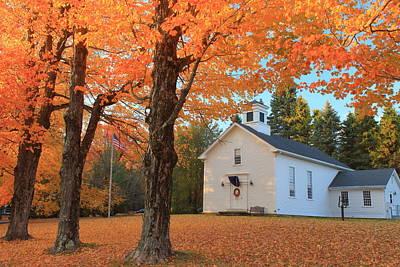 Photograph - Fall Foliage Worthington Ma by John Burk