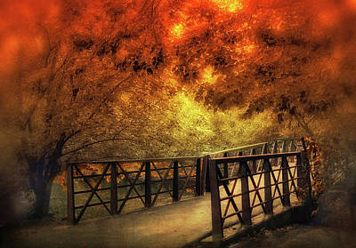 Photograph - Fall Footbridge by Jessica Jenney