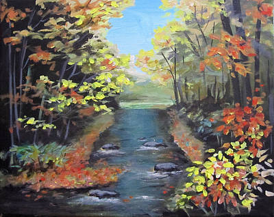 Painting - Fall Forest by Carol Hart