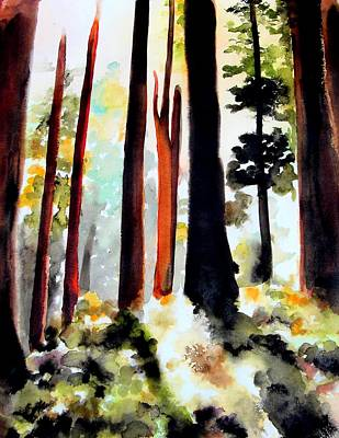 Painting - Fall Forest by Richard Hoddinott