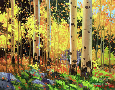 In The Distance Painting - Fall Forest Symphony I by Gary Kim