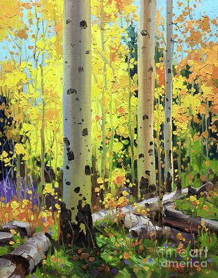 Kim Painting - Fall Forest Symphony II by Gary Kim