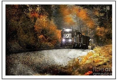 Photograph - Fall Freight by Rick Lipscomb
