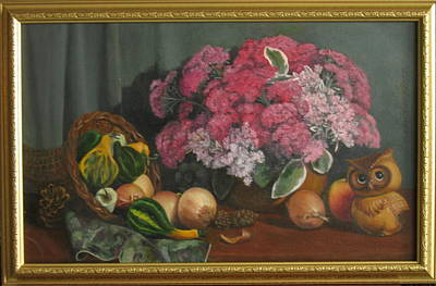 Etc. Painting - Fall Fruit And Flora by Eleanor Mcintosh
