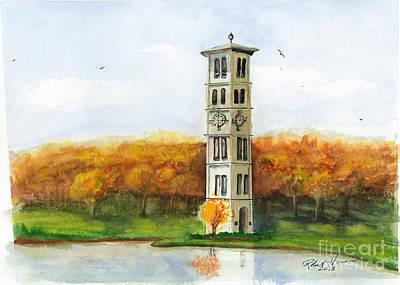 Liberal Painting - Fall@ Furman by Robert  ARTSYBOB Havens