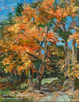 Painting - Fall Glory by Claire Gagnon