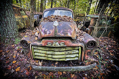 Photograph - Fall Gmc Pickup by Alan Raasch