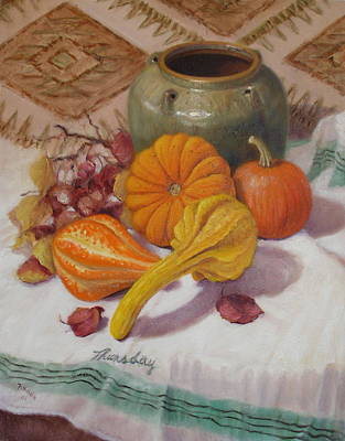 Painting - Fall Harvest #5 by Donelli  DiMaria