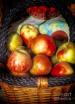 Photograph - Fall Harvest Apple Basket by Susan Garren