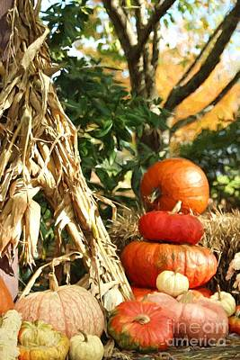 Photograph - Fall Harvest Display by Benanne Stiens
