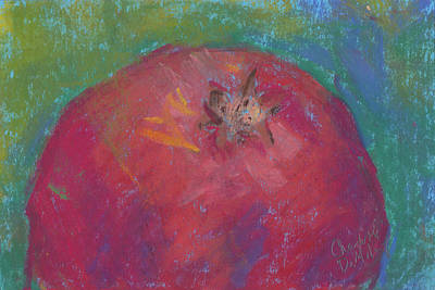 Pastel - Fall Harvest Pomegranate by Charlotte B DeMolay