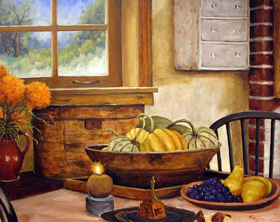Fall Harvest Art Print by Richard T Pranke