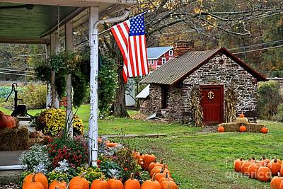Print featuring the photograph Fall Harvest - Rural America by DJ Florek