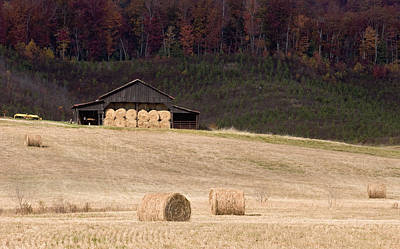 Fall Hay Season Art Print by Harold Stinnette