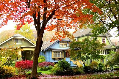 Photograph - Fall Heritage Neighbourhood by Frank Townsley