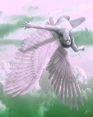 Greek Art Mixed Media - Fall Of Icarus - Cool Tones by Joaquin Abella
