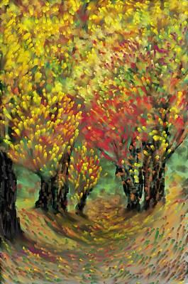 Fall Impression Art Print by Harry Dusenberg