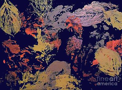 Abstract Handbag Painting - Fall Impressions by Jilian Cramb - AMothersFineArt