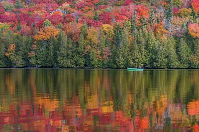 Fall In A Canoe Art Print