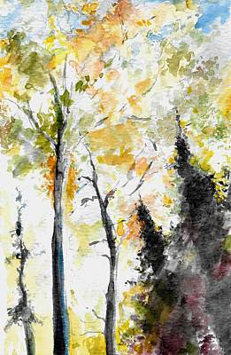 Landscape Painting - Fall In Aitken County by Andrew Claflin
