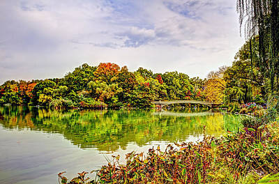 Rowboat Digital Art - Fall In Central Park by Geraldine Scull