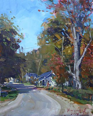 Canada Landscape Painting - Fall In Glen Williams On by Ylli Haruni