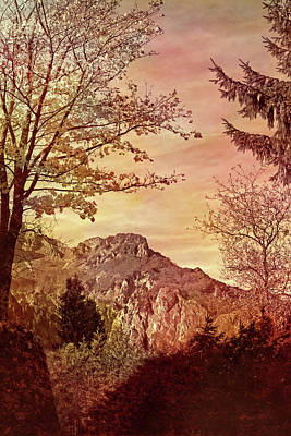 Susann Serfezi Wall Art - Painting - Fall In Mountains by AugenWerk Susann Serfezi