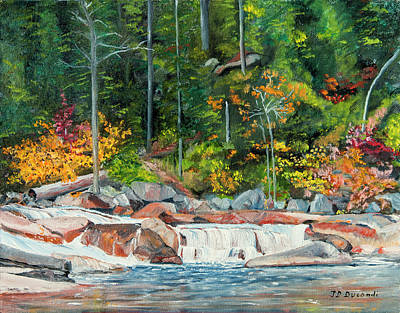 Painting - Fall In New Hampshire - Oil by Jean-Pierre Ducondi
