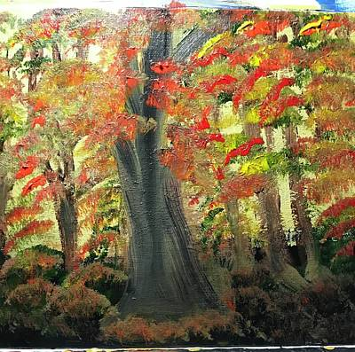 Painting - Fall in north Texas Park  by Richard Dalton